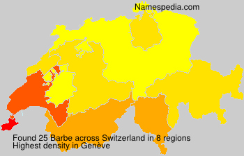 Surname Barbe in Switzerland