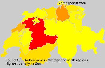 Surname Barben in Switzerland