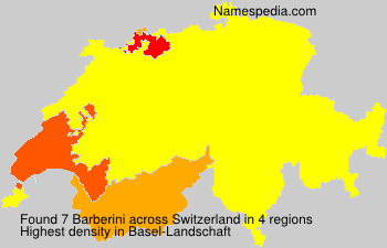 Surname Barberini in Switzerland