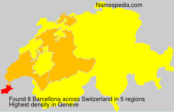 Surname Barcellona in Switzerland