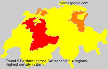 Familiennamen Bardakci - Switzerland