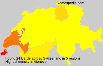 Surname Barde in Switzerland