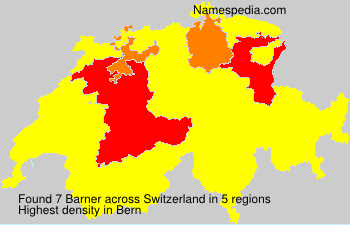 Surname Barner in Switzerland