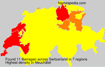 Surname Barragan in Switzerland