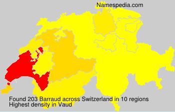 Surname Barraud in Switzerland
