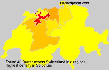 Surname Barrer in Switzerland