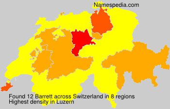 Familiennamen Barrett - Switzerland