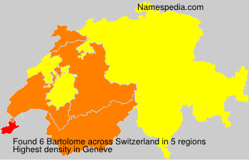 Surname Bartolome in Switzerland