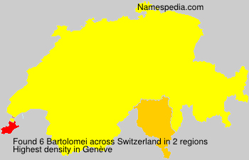 Surname Bartolomei in Switzerland