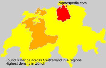 Surname Bartos in Switzerland