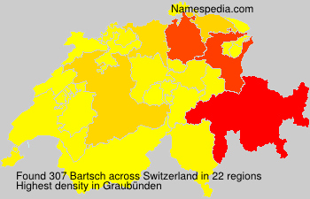 Familiennamen Bartsch - Switzerland