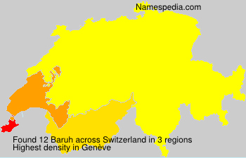 Surname Baruh in Switzerland