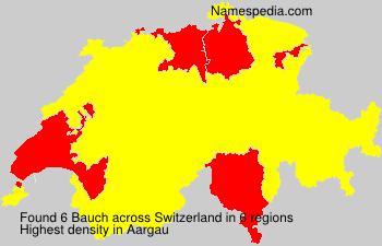 Surname Bauch in Switzerland