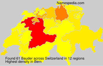 Surname Bauder in Switzerland