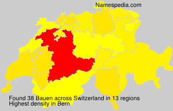 Surname Bauen in Switzerland