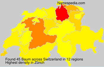 Surname Baum in Switzerland