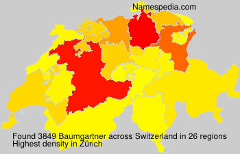 Surname Baumgartner in Switzerland