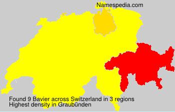 Surname Bavier in Switzerland