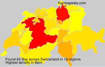 Surname Bay in Switzerland