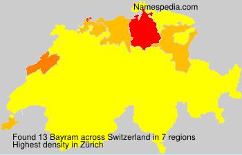 Familiennamen Bayram - Switzerland