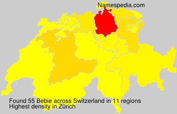 Surname Bebie in Switzerland
