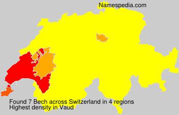 Surname Bech in Switzerland