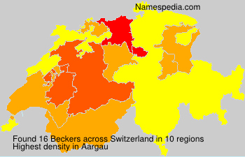Surname Beckers in Switzerland