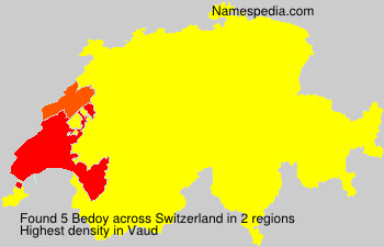 Surname Bedoy in Switzerland