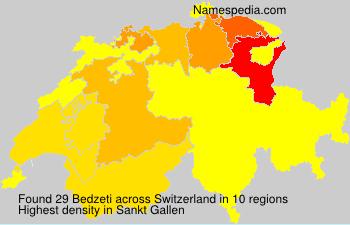 Surname Bedzeti in Switzerland