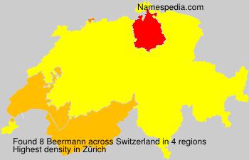 Surname Beermann in Switzerland