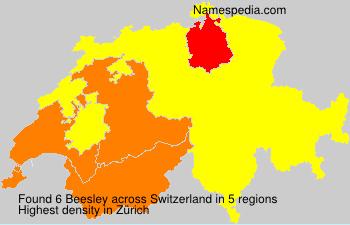 Surname Beesley in Switzerland