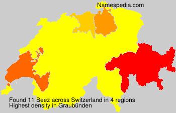 Familiennamen Beez - Switzerland