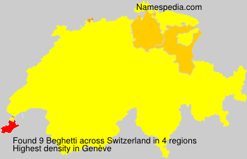 Surname Beghetti in Switzerland