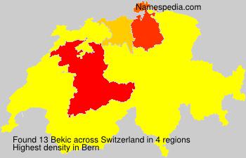 Familiennamen Bekic - Switzerland