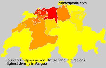 Surname Beljean in Switzerland