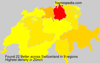 Surname Beller in Switzerland