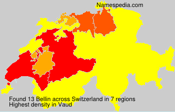 Surname Bellin in Switzerland