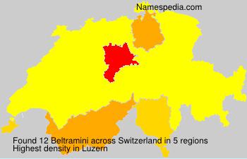 Familiennamen Beltramini - Switzerland