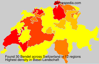 Surname Bendel in Switzerland