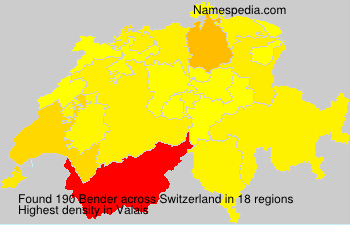 Surname Bender in Switzerland