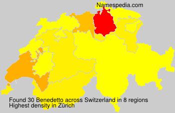 Surname Benedetto in Switzerland