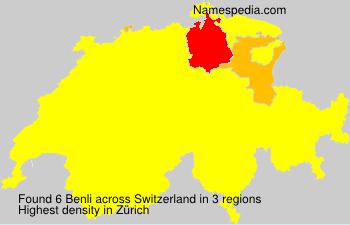 Surname Benli in Switzerland