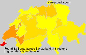 Surname Bento in Switzerland