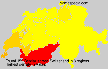 Surname Berclaz in Switzerland