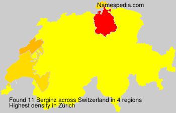 Familiennamen Berginz - Switzerland