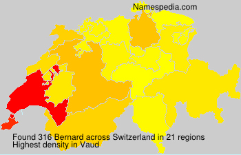 Surname Bernard in Switzerland