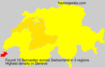 Surname Bernardez in Switzerland