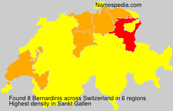 Surname Bernardinis in Switzerland