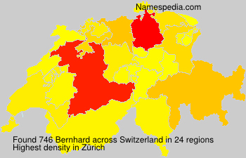 Surname Bernhard in Switzerland