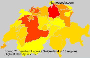 Surname Bernhardt in Switzerland